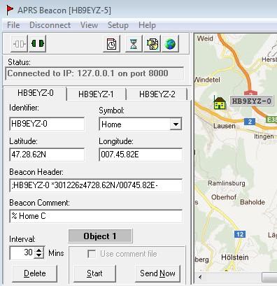 HB9EYZ - APRS (Windows & Android) on
